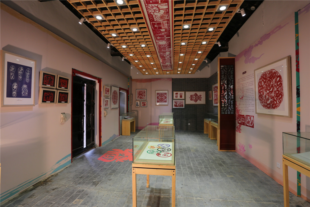 Paper - cut exhibition hall