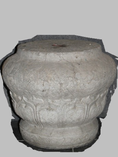 Indoor exhibition hall: column base