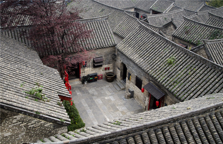 Zhai Grand Courtyard overlooking the map
